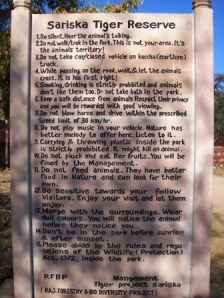 Some rules to follow at Sariska