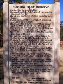Some rules to follow at Sariska